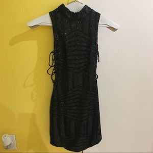 LF Dresses - LF Store Black Sequence Dress